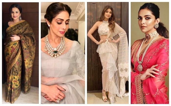 Saree inspiration from actresses